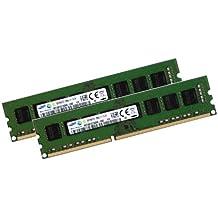 Samsung 16 GB Dual channel Kit 2 x 8 GB 240 pin DDR3-1600, NON-ECC, DIMM sin búfer (1600 mhz, PC3-12800U, CL11, 1.5 V)