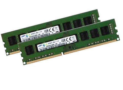 Samsung 16GB Dual Channel Kit 2 x 8 GB 240 pin DDR3-1600, Non-ECC, Unbuffered DIMM (1600Mhz, PC3-12800U, CL11, 1.5V) - 12800 Dual Channel