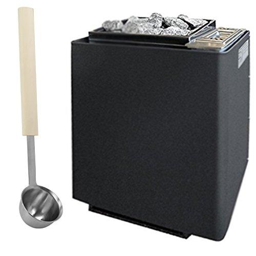 Saunaofen EOS Bi-O-Mat W 9 kW, anthrazit-Perleffekt inkl. Verdampfer und 15 kg Saunasteinen. Bio-Kombi-Ofen ohne Steuerung