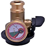 Gas Safe Brass Auto Cut-off Gas Safety Device for All LPG Cylinder Use and Home Safety (Multicolour)