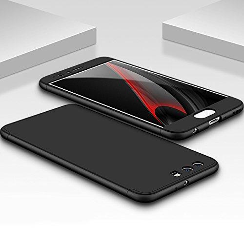 Huawei P10 Plus Coque,Sunroyal Coque Dur Matte Housse Très mince Non Slip Surface antichoc Hard PC Matière avec [Protecteur d'écran] [Ultra Mince] [Ultra Léger] Anti-Rayures Anti-dérapante Case Coque  Noir