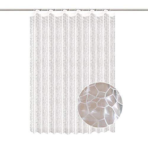 ChicSoleil Duschvorhang Anti-Schimmel Badezimmer Deko Wasserdichte Dusche Bad Verdickung Vorhänge mit Digitaldruck mit 12 Duschvorhangringe für Badezimmer (180x180cm, 3D Wasser Cube) -