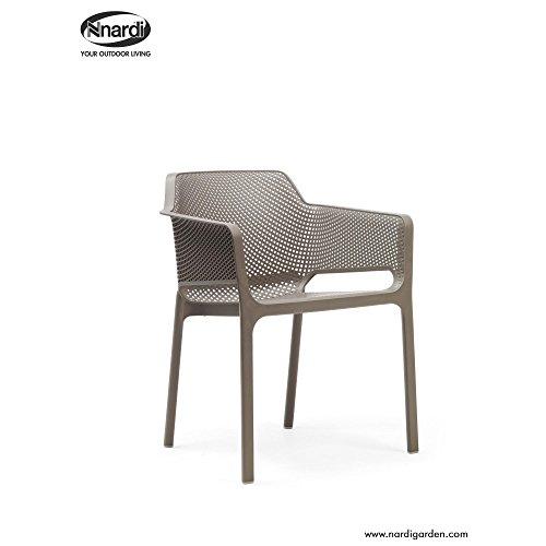 Unbekannt Nardi - Net Armlehnenstuhl - Tortora - Raffaello Galiotto - Design - Gartenstuhl - Terrassenstuhl