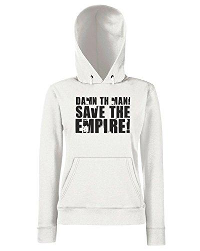 T-Shirtshock - Sweats a capuche Femme FUN1142 damn the man save the empire light tshirt Blanc