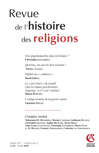 Revue de l'histoire des religions - Tome 227 (2/2010)