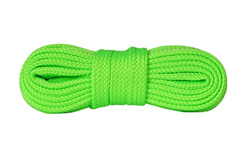 Kaps sneakers lacci, lacci per scarpe durevoli di qualit? per calzature casual, made in europe, 1 paio, molti colori e lunghezze (120 cm - 7 a 9 paia di occhielli - fluorescente verde salice)
