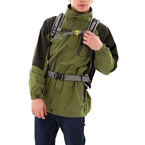 Trekkingrucksacke Reiserucksack Wanderrucksack 35L ,Perfekt zum Wandern Bergsteigen Reisen und für Sport und Camping,52 x 28 x 17cm Schwarz
