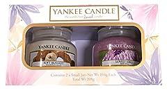 "Idea Regalo - Yankee Candle, set regalo originale con vasetti ""Soft Blanket"" e ""Lovely Kiku"""