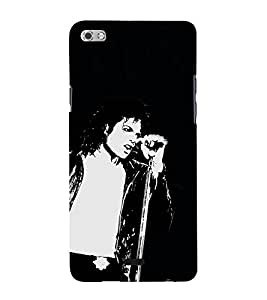 Fiobs Designer Back Case Cover for Micromax Canvas Sliver 5 Q450 :: Silver Q450 (Michael Jackson King Of Pop Dance)