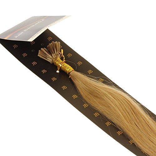 Just Beautiful Hair and Cosmetics Extensions capillaires avec micro anneaux pour pose à froid Cheveux naturels Remy 60 cm 1 g par mèche