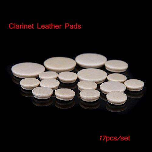lesuzza £ š TM) di alta qualità per clarinetto in pelle cuscinetti sostituzione durevole Exquisite vento strumento Clarinetto Accessori 17pcs/Set