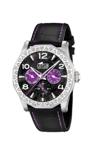 Lotus 15684/4 - Reloj de mujer de cuarzo, correa de piel color negro