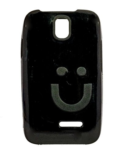 iCandy™ Imported Quality Soft TPU Smiley Back Cover For Micromax Bolt A24 - Black