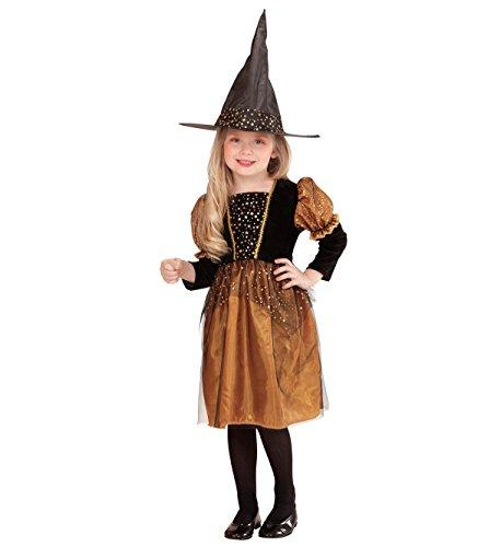 erkostüm kleine Hexe Kleid, Hut, Größe 110, mehrfarbig (Kleinkind-mädchen-hexe-halloween-kostüme)