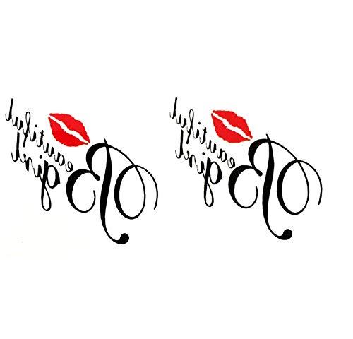 ruofengpuzi Wasserdicht Temporäre Tätowierung Sexy Kiss My Mann Meiner Liebe Harajuku Tattoo Fake Tattoo-Aufkleber Tattoo-Kid (Kiss Make Up Kostüm)