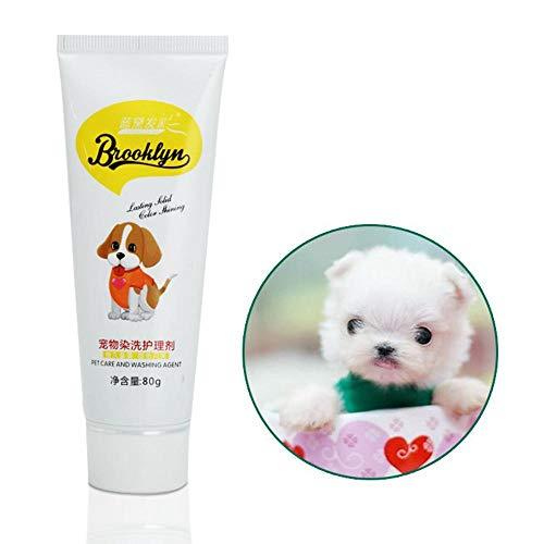 KOBWA Hundehaarfarbe für Hunde, hell, Hypoallergen, permanent, ungiftig, lustig, 80 g, Färbemittel für die kreative Fellpflege -
