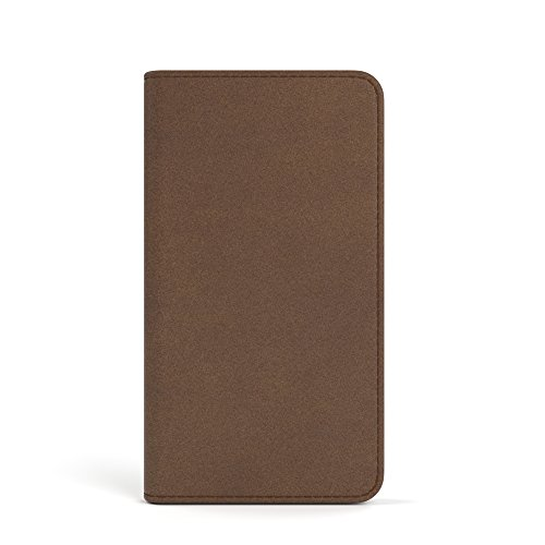 Apple iPhone SE / 5S / 5 Tasche, EAZY CASE Book-Style Case Metallic, Premium Handyhülle mit Kartenfach, Schutzhülle Geldbeutel mit Standfunktion, Wallet Case in Silber Metallic Braun - Vintage