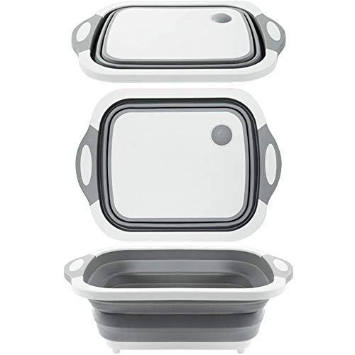 Tagliere pieghevole addensare tagliere in plastica, bacino alimentare pieghevole durevole bpa-free materiale tpr tagliere grande per cucina campo viaggio