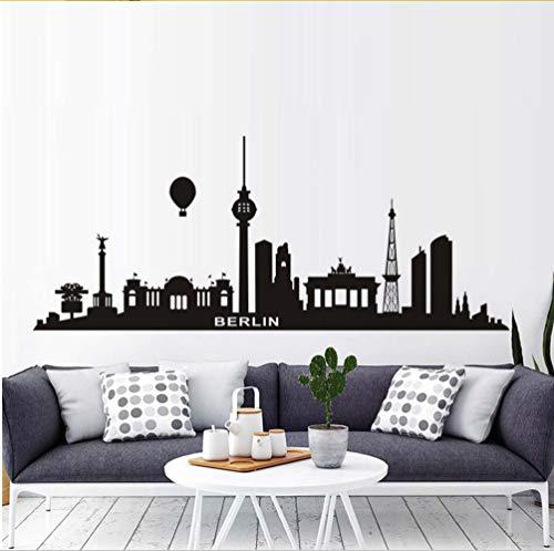 Meaosyy Schwarz Wasserstoff Ballon Berlin Stadt Wandaufkleber Wohnzimmer Dekoration Diy Sofa Hintergrundbild Kunst Aufkleber Wanddekor