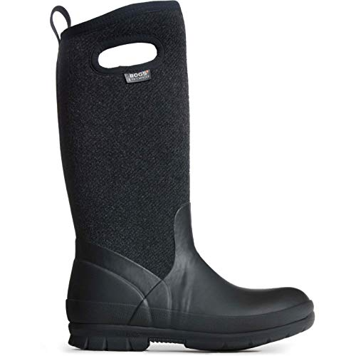 Bogs Crandall Tall Wool Black Size 6 (Insulated Womens Rain)