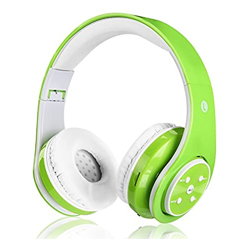 Wireless headphones for kids adults rechargeable foldable headset over ear