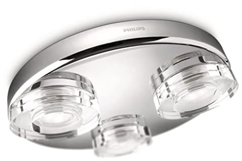 Phillips 322091116 Plafonnier de salle de bain à 3 ampoules Chrome