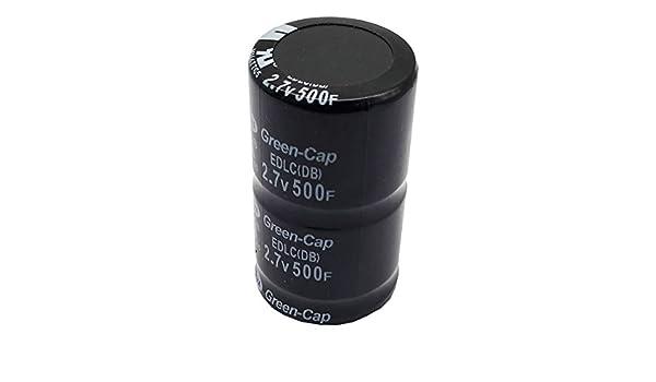 2//6 Zinniaya Condensateur Farad 500F 35x60mm Super 2.7V 500F Super Condensateur Super 2,7V 500F Noir 10x Condensateur Super 2.7V 500F Condensateur Ultra