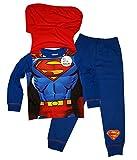 Garçons Superman Pyjama Nouveauté Avec Cap 2 à 8 ans