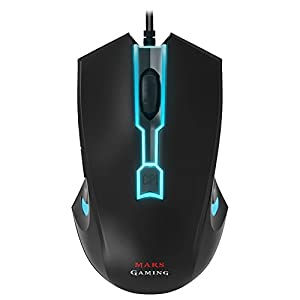 Mars Gaming MM2 – PC-Maus, 5000DPI, optischer Sensor, LED 4 Farben, 5 Profile