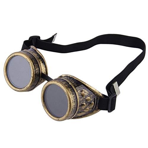 AOCCK Sonnenbrillen,Brillen, Vintage Cyber Goggle Steampunk Glasses Welding Punk Gothic Sunglasses Steampunk Cyber Goggles Sun Glasses Cosplay Eyewear &05 2
