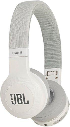 Jbl e45 bt cuffie circumaurali con bluetooth, ripiegabili con microfono, bianco