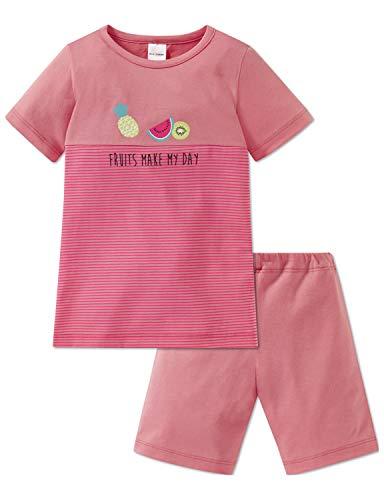 Schiesser Mädchen Md Anzug kurz Zweiteiliger Schlafanzug, Gelb (Apricot 603), (Herstellergröße: 128)