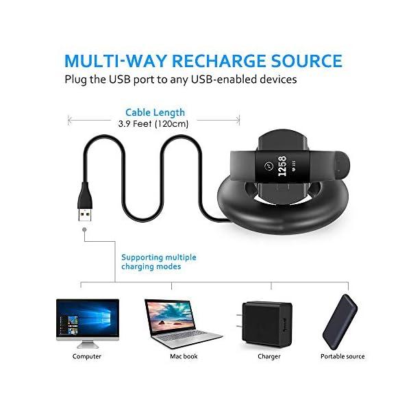 KIMILAR Cargador Compatible con Fitbit Charge 3 Cable, Base de Carga USB Repuesto Cargador para Charge 3 & Special… 8