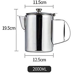 beiguo xia Cafetière à Expresso en Acier Inoxydable 1400/2000/2800/ml, Argenté, 2.0L