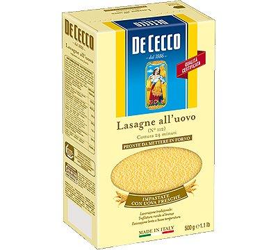 De Cecco Lasagne All' Uovo No.112, 500g packet