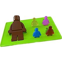 LEVEL25 Molde figuras LEGO grande chocolate gominola cubitos hielo jelly ideal fiestas de cumpleaños