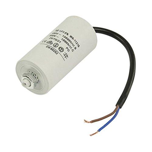 Kondensator Betriebskondensator Motorkondensator Anlaufkondensator Arbeitskondensator Steckeranschluss mit Kabel 450V + Kabel W9 von 2,0µF bis 50µF wählen Sie die benötigte Größe 2.0µF, 2.5µF, 3µF, 4µF, 6µF, 8µF, 10µF, 12µF, 16µF, 25µF, 30µF, 40µF, oder 50µF (16µF)