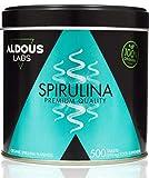 Espirulina Ecológica Premium para 165 días - 500 comprimidos de 500mg con 99% BIO Spirulina - Vegano, Saciante, DETOX - Libre de Plástico - Certificación Ecológica Oficial