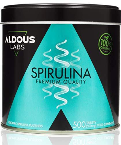 Espirulina Ecológica Premium para 165 días - 500 comprimidos de 500mg con 99% BIO...