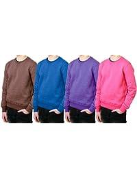 REDRUM Pullover Herren Sweatshirt Baumwolle Streetwear Basic Sweat mel