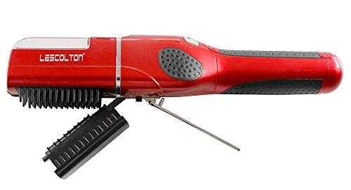 Preisvergleich Produktbild Haarschneider – Spliss Trimmer für Frauen automatische Haar Trimmer für Schneiden Trocken und glatt Haare schnurlose Haar Styling schwarz rot