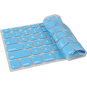 PINDIA SKY BLUE MACBOOK AIR 13 13.3 INCH ANTI DUST STAIN SILICON KEYBOARD COVER