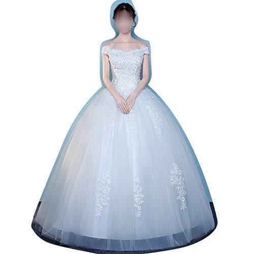 Rocke Schatz Perlen Korsett Mieder Klassische Tüll Brautkleid (Size : XXL)