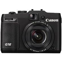 Canon PowerShot G16 EU18 Fotocamera Compatta Digitale 12.1 Megapixel, Nero