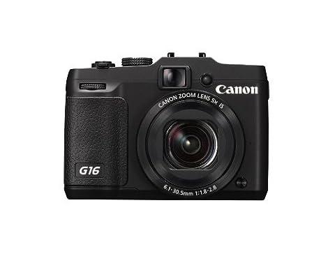 Canon PowerShot G16 Digitalkamera (12,1 Megapixel, 5-fach opt. Zoom, 7,6 cm (3 Zoll) LCD-Display, bildstabilisiert) schwarz
