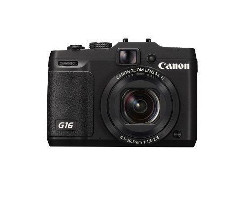 Canon PowerShot G16 Digitalkamera (12,1 MP, 5-Fach Opt. Zoom, 7,6cm (3 Zoll) LCD-Display, bildstabilisiert) schwarz