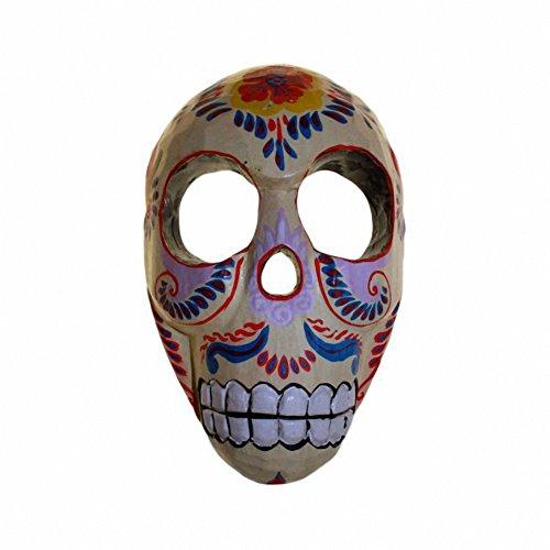 Floral Skull Mask - Cream