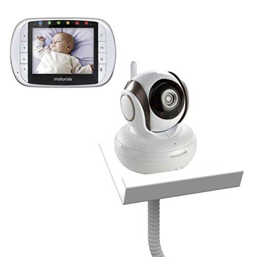 Motorola MBP36S with Baby Camera Holder (White) - The Universal Baby Monitor Shelf Holder