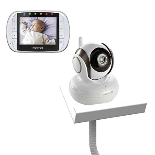 Motorola MBP36S with Baby Camera Holder (White) – The Universal Baby Monitor Shelf Holder 41YLG6Is7mL