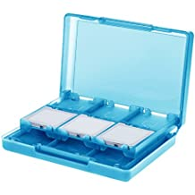 AmazonBasics – Funda para cartuchos de juegos de Nintendo3DS con 24ranuras, Azul